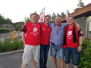 Redouane, Diderik, Torbjørn, Einar